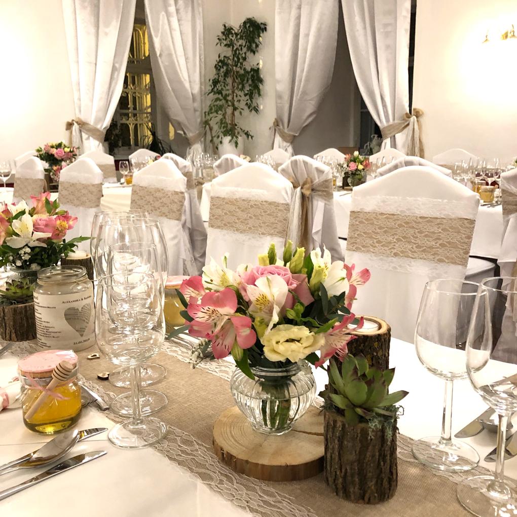 Tisch für Hochzeitsgesellschaft